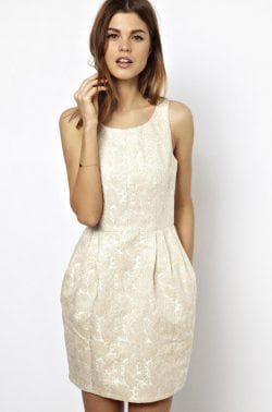 платье тюльпан из жаккарда