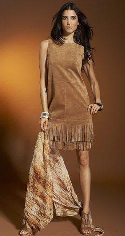 платье сарафан из искусственной замши