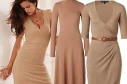 трикотажные платья в горошек