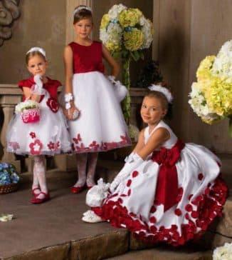 праздничное платье для девочки с длинным рукавом