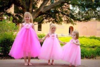 платье с фатином для девочки своими руками