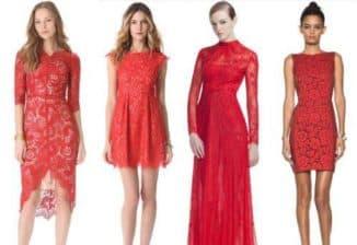 с чем одеть красное гипюровое платье