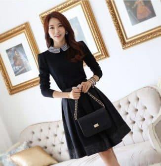 модели платьев с длинным рукавом