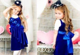 нарядные бархатные платья для девочек