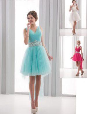 короткое платье из фатина