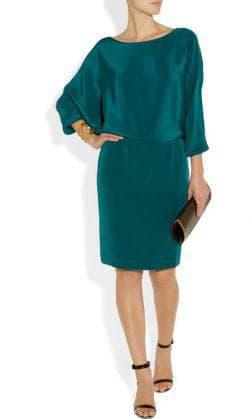 прямой фасон платья для больших бёдер