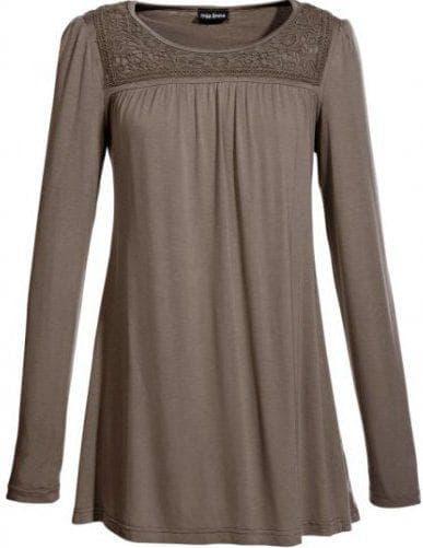 платье туника из трикотажа с длинным рукавом