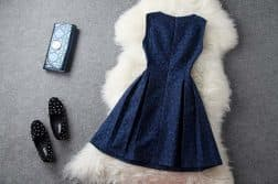 красивое трикотажное платье с длинным рукавом