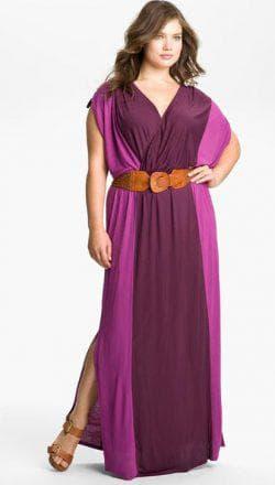 платье в греческом стиле для широких бёдер