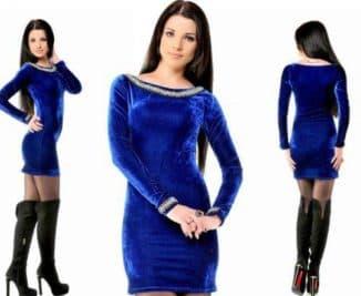 бархатное мини платье