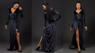 платье халат из бархата