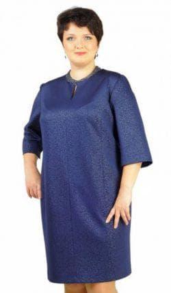 платье рубашечного покроя для полных из жаккарда