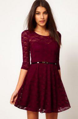 чёрный пояс для бордового платья