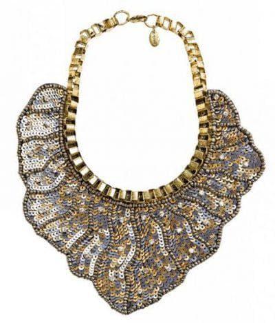 ожерелье для черного платья с пайетками