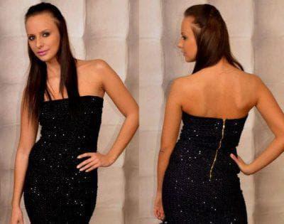 маникюр для черного платья с пайетками