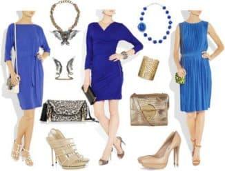 какое украшение подойдет под синее платье