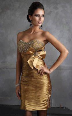 золотое платье из атласа