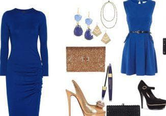какая бижутерия подойдет к синему платью