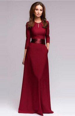 бордовый пояс для бордового платья