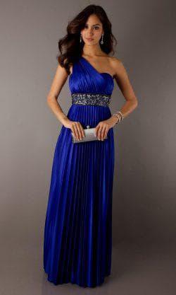 серебрянный пояс к синему платью