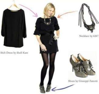 какие украшения подойдут к кожаному черному платью