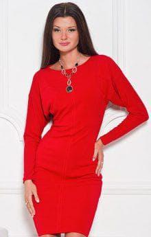 цветные украшения к красному платью с вырезом лодочка