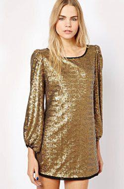 золотое платье от ASOS