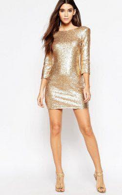 золотое платье от TFNC