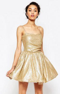 золотое платье от Maya Petite's