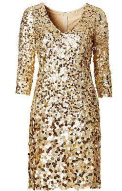 золотое платье от Bonprix