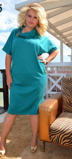 голубое платье а силуэта для полных