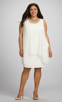 платье трапеция для полных молочного цвета