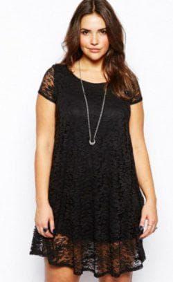 платье трапеция для полных чёрного цвета