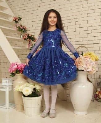 платье принцессы для девочки с пайетками