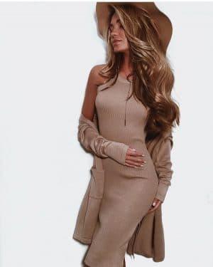 платье лапша и кардиган