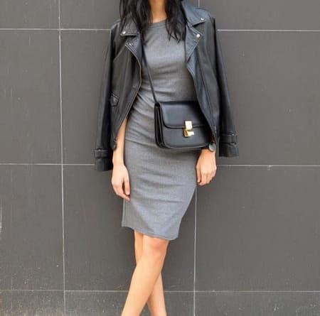 платье лапша и курточка косуха
