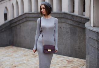 платье лапша с какой обувью носить осенью