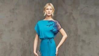 вечернее платье с цельнокроеным рукавом