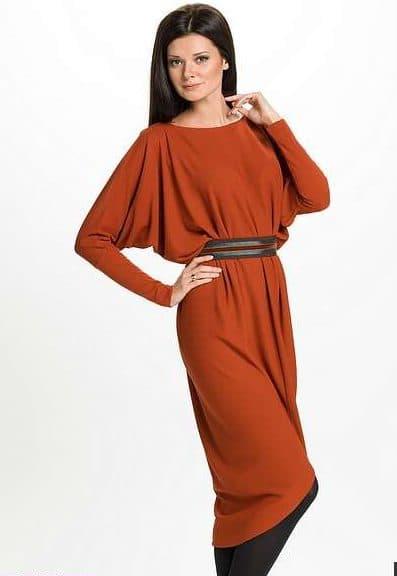 111-2-e1510563162921 Платье с цельнокроеным рукавом — кому подходит и варианты фасонов