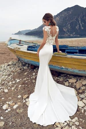 свадебное приталенное платье русалочка