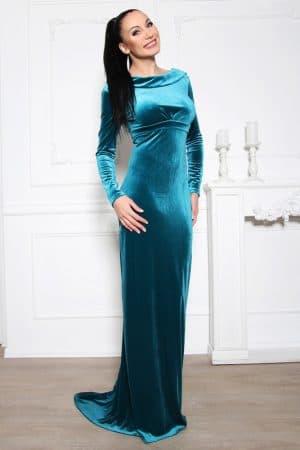 вечернее платье из велюра