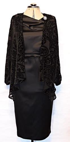 вечернее платье из велюра с накидкой