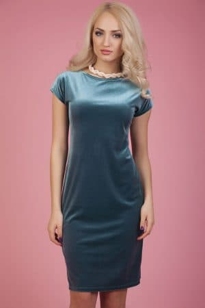 коктейльное платье из велюра