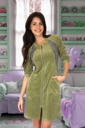 домашнее платье из велюра