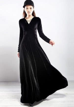 платье из велюра для мусульман