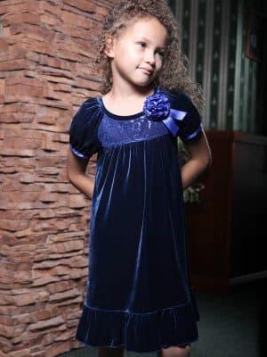 детские платья из велюра