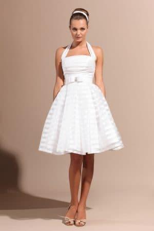 короткое пышное платье в стиле 60 х годов