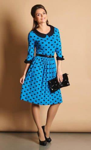 повседневное платье в стиле 60 х годов