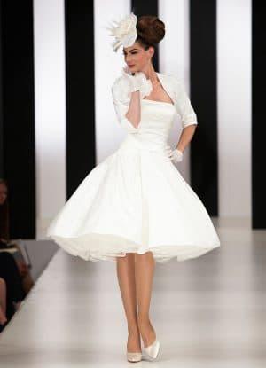 свадебное платье в стиле 60 х годов
