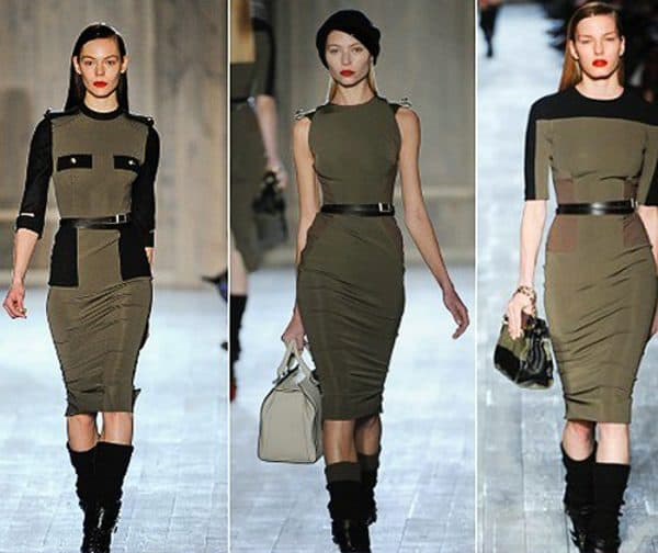 платье рубашка в стиле милитари